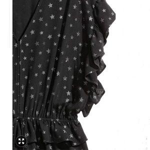 H&M Dresses - H&M Glittery Jumpsuit Stars Romper Size 6